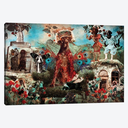 German Shorthaired Pointer Paradise Garden Canvas Print #NDG1211} by Nobility Dogs Canvas Artwork