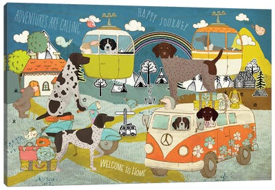 German Shorthaired Pointer Happy Journey Canvas Art Print