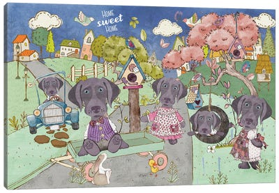 Weimaraner Home Sweet Home Canvas Art Print