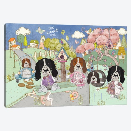 English Springer Spaniel Home Sweet Home Canvas Print #NDG1266} by Nobility Dogs Canvas Artwork