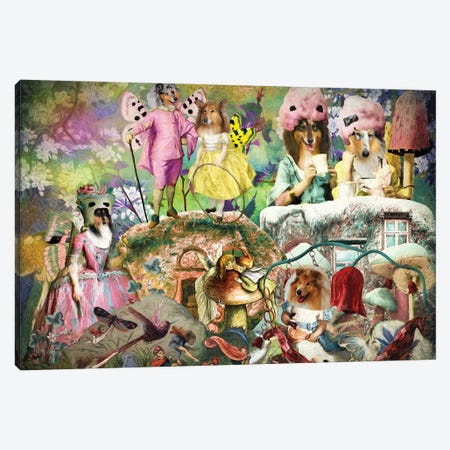 Rough Collie Fairyland Canvas Print #NDG1270} by Nobility Dogs Canvas Wall Art