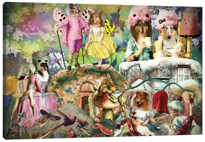 Rough Collie Fairyland Canvas Art Print