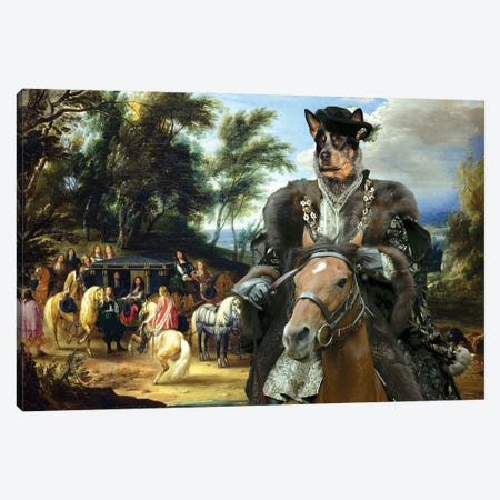 Australian Cattle Dog Philippe Francois Canvas Print #NDG1282} by Nobility Dogs Canvas Art Print