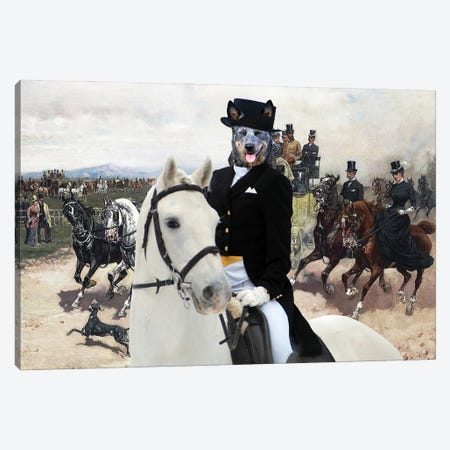 Australian Cattle Dog The Return From Capannelle Canvas Print #NDG1283} by Nobility Dogs Canvas Art Print