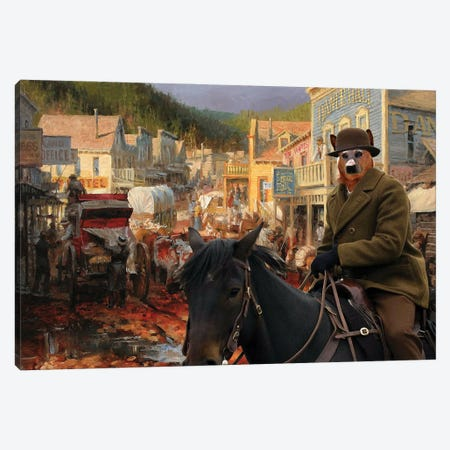 Australian Cattle Dog Gold Town Canvas Print #NDG1284} by Nobility Dogs Canvas Art