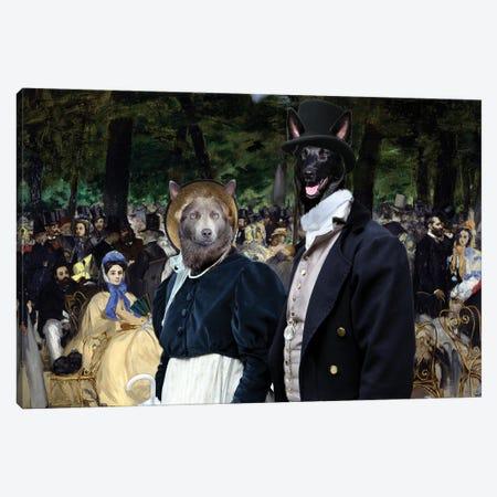 Australian Kelpie Tuileries Gardens Canvas Print #NDG1285} by Nobility Dogs Canvas Wall Art