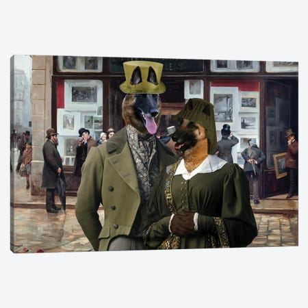 Belgian Malinois Public Exhibition Canvas Print #NDG1308} by Nobility Dogs Canvas Art