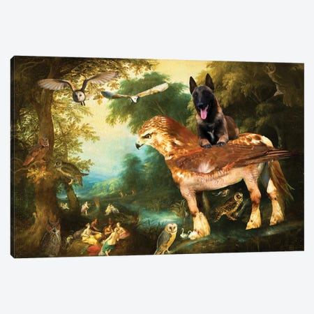 Belgian Malinois Diana And Her Nymphs Canvas Print #NDG1310} by Nobility Dogs Art Print