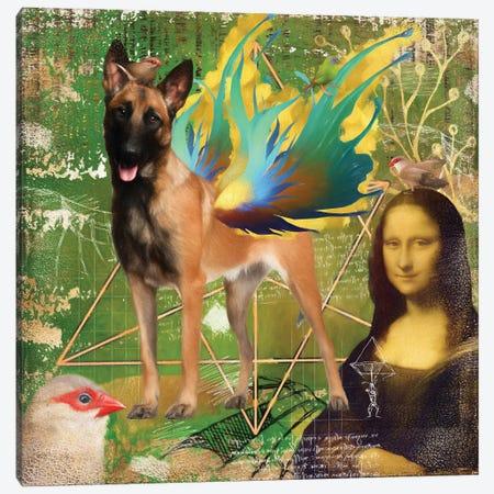Belgian Malinois Angel Da Vinci Canvas Print #NDG1312} by Nobility Dogs Art Print