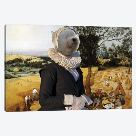 Old English Sheepdog The Harvesters Canvas Print #NDG1315} by Nobility Dogs Canvas Artwork