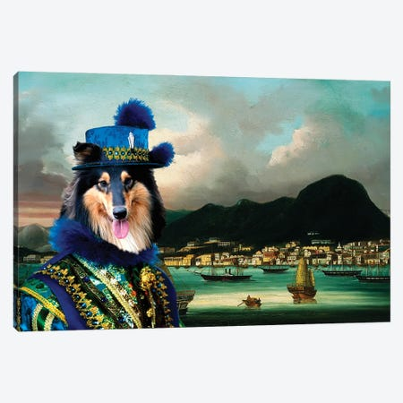 Rough Collie The Governor Of Hong-Kong Canvas Print #NDG1330} by Nobility Dogs Canvas Art Print