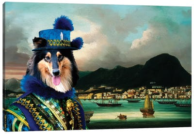 Rough Collie The Governor Of Hong-Kong Canvas Art Print