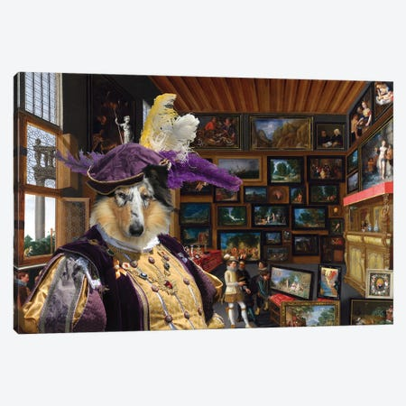 Rough Collie Cognoscenti In A Room Canvas Print #NDG1332} by Nobility Dogs Canvas Print