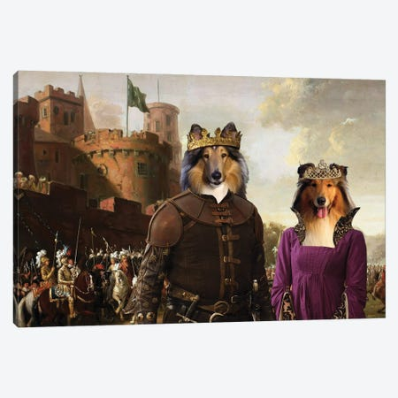 Rough Collie The Enchanted Forest Canvas Print #NDG1333} by Nobility Dogs Art Print