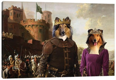 Rough Collie The Enchanted Forest Canvas Art Print