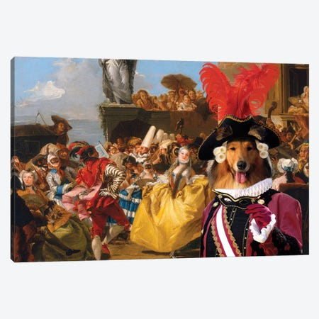 Rough Collie The Royal Dance Canvas Print #NDG1334} by Nobility Dogs Canvas Art