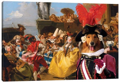 Rough Collie The Royal Dance Canvas Art Print