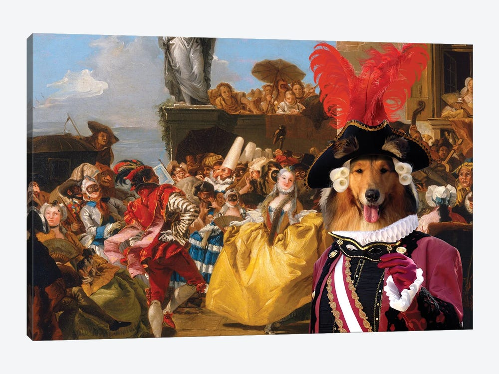 Rough Collie The Royal Dance by Nobility Dogs 1-piece Canvas Art