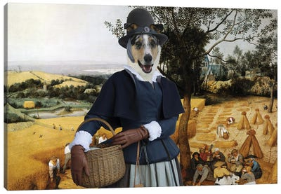 Smooth Collie The Harvesters Canvas Art Print