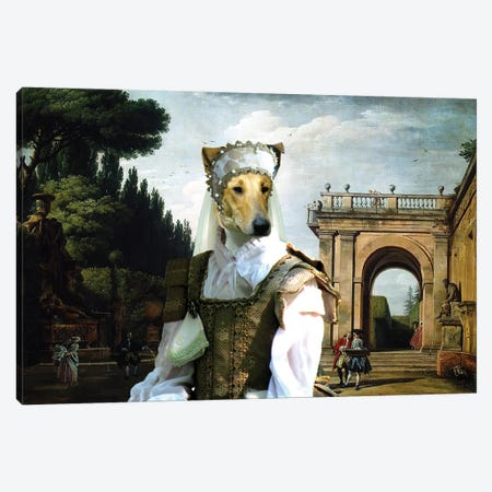 Smooth Collie In Afternoon In Rome Canvas Print #NDG1338} by Nobility Dogs Art Print
