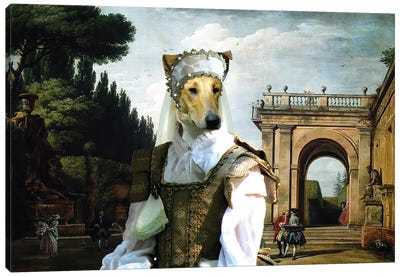 Smooth Collie In Afternoon In Rome Canvas Art Print