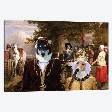 Smooth Collie The Eve Of The Battle Canvas Print #NDG1339} by Nobility Dogs Art Print