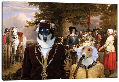 Smooth Collie The Eve Of The Battle Canvas Art Print