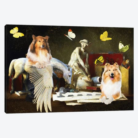 Rough Collie The Attributes Of The Arts Canvas Print #NDG1342} by Nobility Dogs Canvas Art