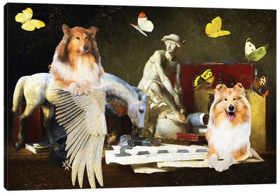Rough Collie The Attributes Of The Arts Canvas Art Print