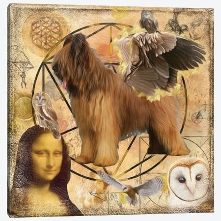 Briard Dog Angel Da Vinci Canvas Print #NDG1343} by Nobility Dogs Canvas Art