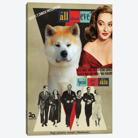 Akita Inu All About Eve Movie Canvas Print #NDG1358} by Nobility Dogs Canvas Print