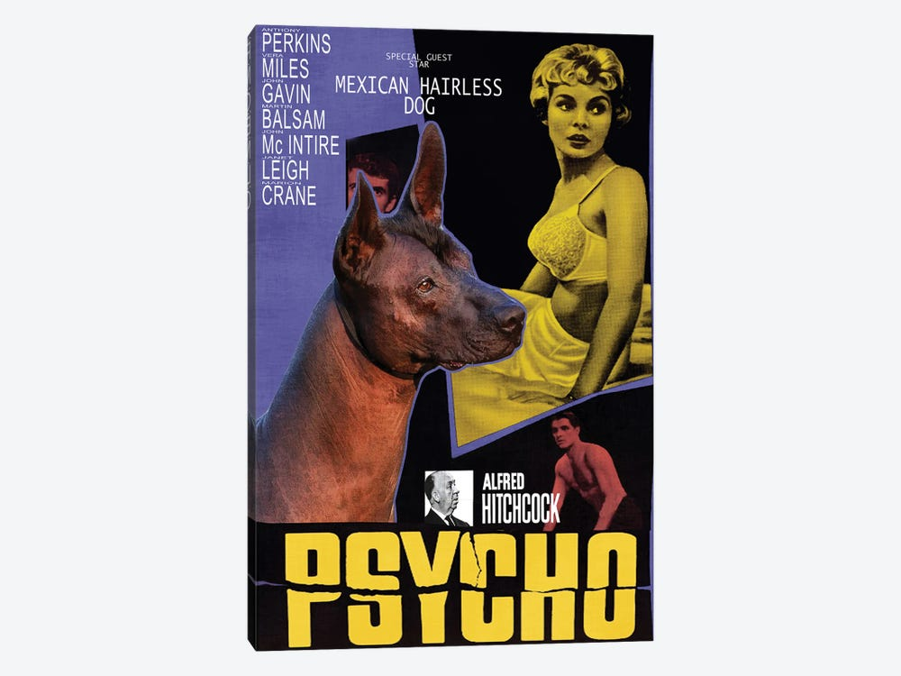 Mexican Hairless Dog Psycho Movie by Nobility Dogs 1-piece Canvas Print