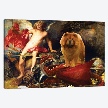 Chow Chow Triumphant Cupid Canvas Print #NDG1389} by Nobility Dogs Canvas Artwork