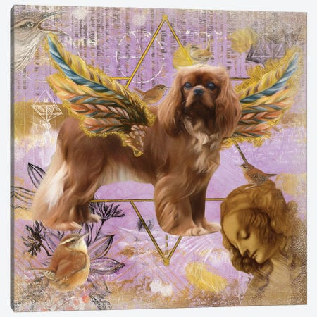Ruby Cavalier King Charles Spaniel Angel Da Vinci Canvas Print #NDG13} by Nobility Dogs Canvas Print