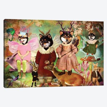 Shiba Inu Enchanted Woodland Canvas Print #NDG1403} by Nobility Dogs Art Print
