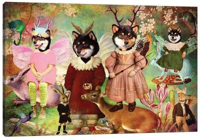Shiba Inu Enchanted Woodland Canvas Art Print