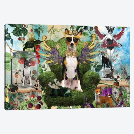 Basenji Berry Paradise Canvas Print #NDG1406} by Nobility Dogs Canvas Artwork