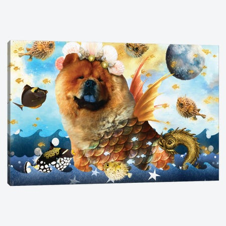 Chow Chow Mermaid Canvas Print #NDG1409} by Nobility Dogs Canvas Art Print