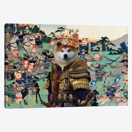 Akita Inu Battle Of Kawanakajima Canvas Print #NDG1416} by Nobility Dogs Canvas Print