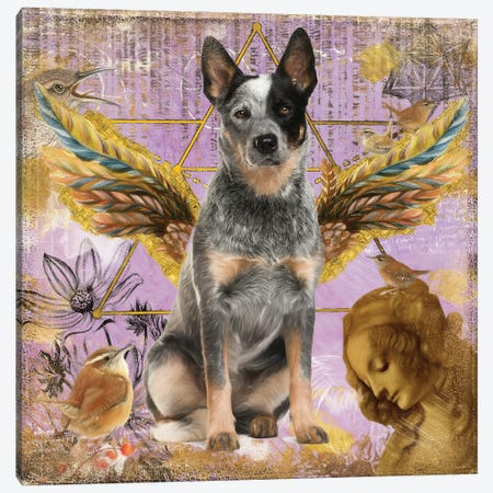 Australian Cattle Dog Blue Heeler Angel Canvas Print #NDG141} by Nobility Dogs Canvas Art Print