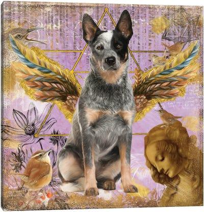 Australian Cattle Dog Blue Heeler Angel Canvas Art Print