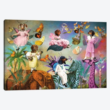 Dachshund Fairy Queen Canvas Print #NDG1428} by Nobility Dogs Canvas Print