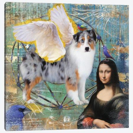 Australian Shepherd Aussie Angel Canvas Print #NDG142} by Nobility Dogs Canvas Print
