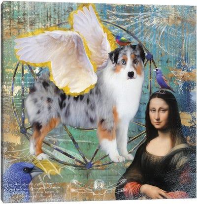 Australian Shepherd Aussie Angel Canvas Art Print
