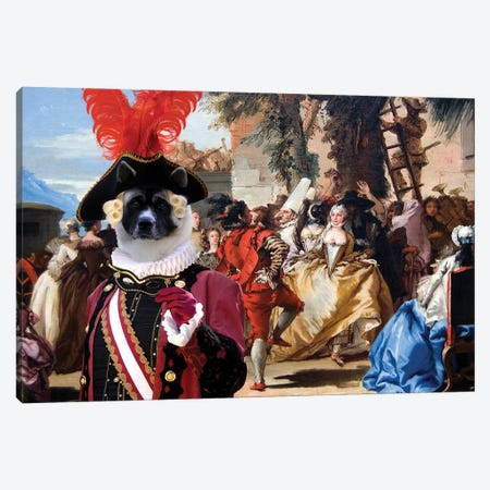 American Akita The Carnival Dance Canvas Print #NDG1433} by Nobility Dogs Canvas Wall Art