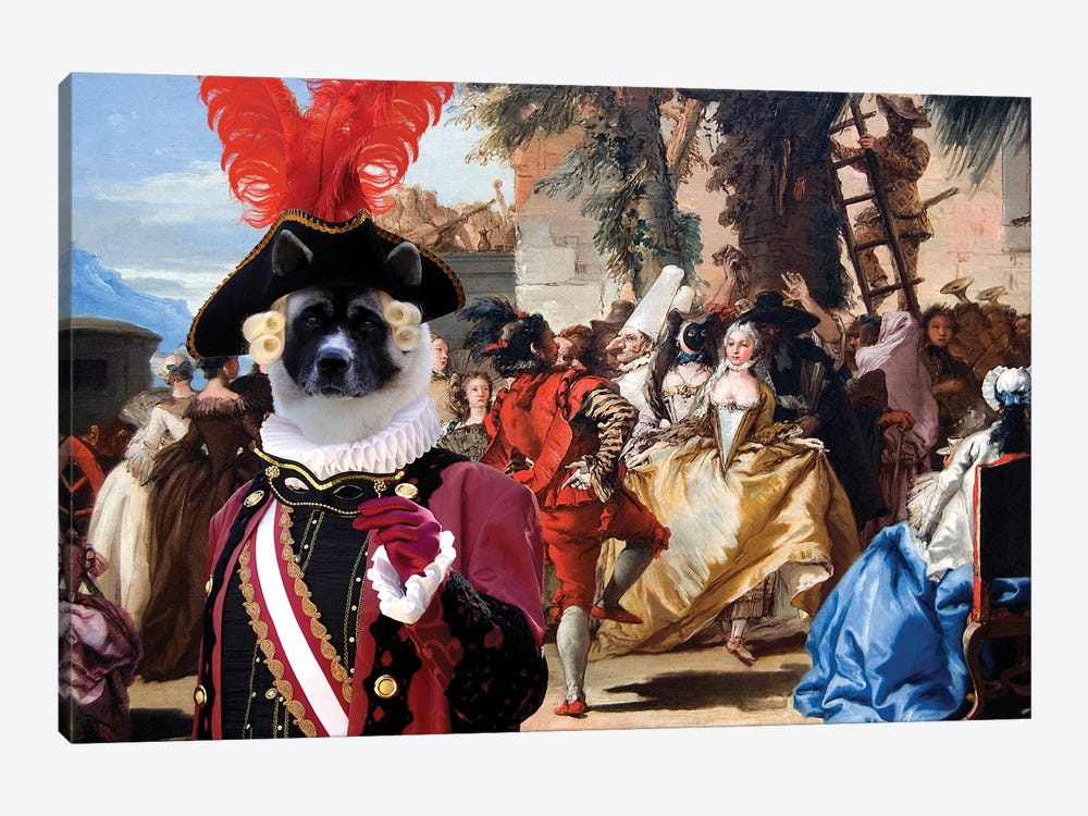 American Akita The Carnival Dance by Nobility Dogs 1-piece Canvas Art