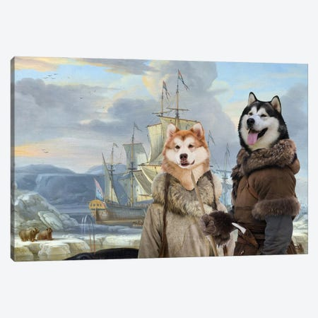 Alaskan Malamute Whaler In The Ice Sea Canvas Print #NDG1435} by Nobility Dogs Canvas Art Print