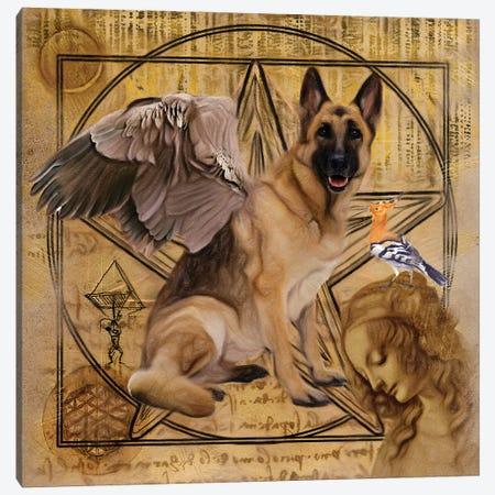 German Shepherd Angel Da Vinci Canvas Print #NDG143} by Nobility Dogs Canvas Art Print