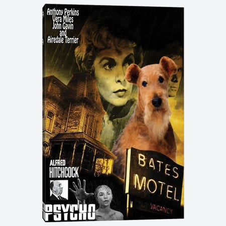 Airedale Terrier Psycho Canvas Print #NDG1450} by Nobility Dogs Canvas Artwork