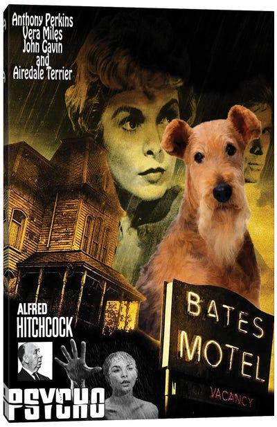 Airedale Terrier Psycho Canvas Art Print